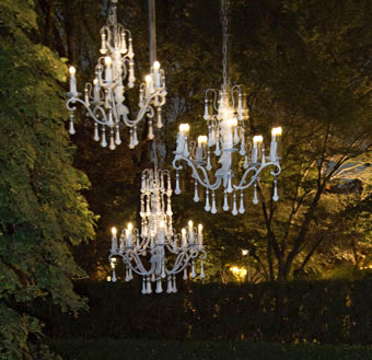Tree Chandeliers - The Conservatory Garden Wedding Venue, St. Louis, MO
